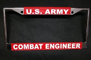 image is loading military license plate frame u s army combat engineer - Military License Plate Frames