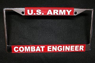 COMBAT ENGINEER-#811718-Chromed Metal Military License Plate Frame-U.S.M.C