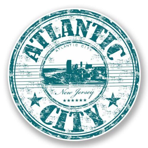 2 x Atlantic City New Jersey USA Vinyl Sticker Laptop Travel Luggage Car #5972
