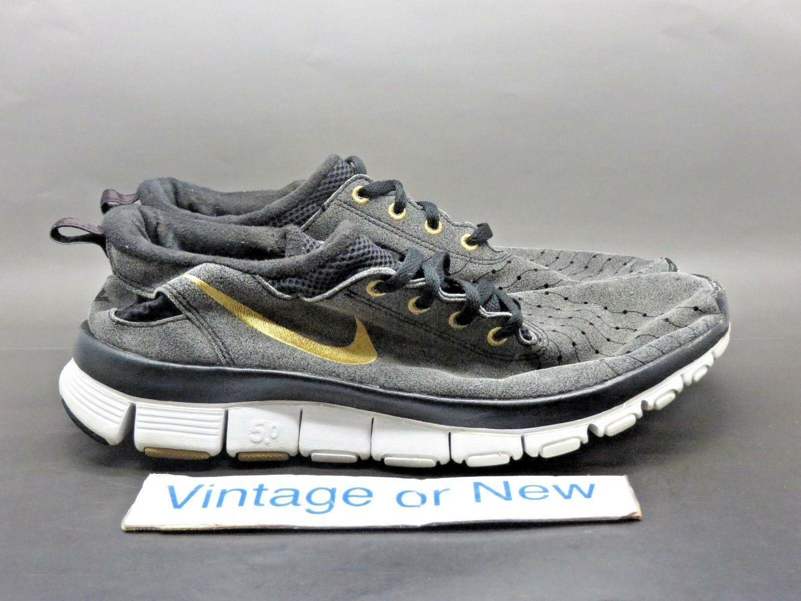 Women's VTG Nike Free 5.0 V2 Dark Grey Black Gold Running Shoes 2018 Price reduction The latest discount shoes for men and women