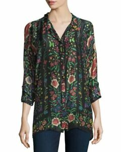 e15523916d78cb Johnny Was Petite Emby Button Down Vlouse Top New Boho Chic ...