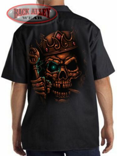 LICH KING Mechanics Work Shirt Biker ~ UNDEAD Creature Skull ~ Dungeons Warcraft