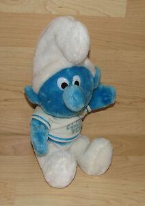 "11/"" VINTAGE 1979 STUFFED ANIMAL PLUSH SMURF WALLACE BERRIE BLUE PEYO NUTSHELLS"
