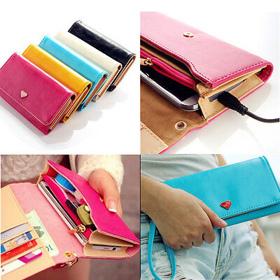 Envelope Card Wallet Leather Purse Case Cover F Samsung Galaxy S5 S6 iPhone 6 5s