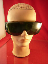 10 NORTH NO. 1114 SAFETY GLASSES MADE IN THE USA GREEN W/SIDE SHIELDS