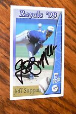 JEFF SUPPAN SIGNED AUTOGRAPHED 1999 KANSAS CITY ROYALS POLICE CARD