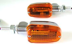 3-Wire SPEEDMETAL Short Stalk Turn Signal Black//Amber