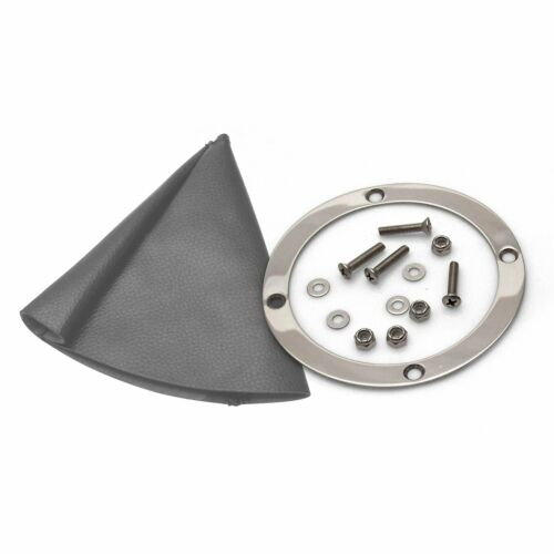 Vertical Shift or Emergency Brake Grey Boot and Silver Ring american shifter
