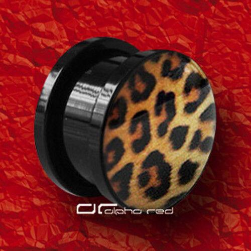 »»» WILD LIFE Jaguar Zebra Leopard ACRYL PLUG OHR PIERCING 4-16mm 3 DESIGNs 2737
