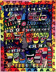 RIZZI-2010-LITHOGRAPH-friends-PARTY-ART-gift-exclusive-print-James-Rizzi-Art