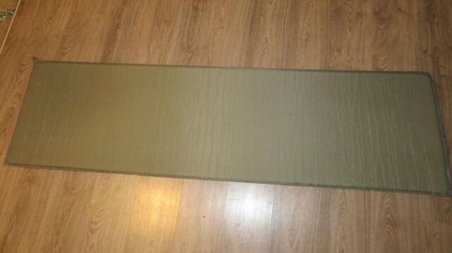 US Military Self-Inflating Sleeping Pad Mattress OD Army Sleep Camping Mat EXC