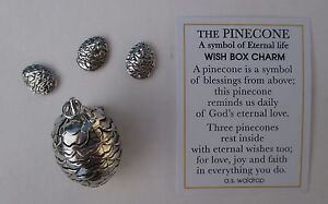 J pine cone wish box charm pendant nature charm triplet locket image is loading j pine cone wish box charm pendant nature aloadofball Image collections
