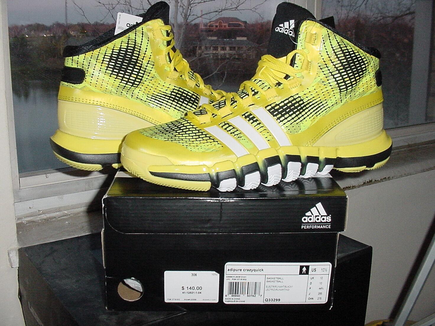 Adidas adipure crazyquick verrückt schnell schwarz wand lillard elektrische gelb schwarz schnell q33299 24f042