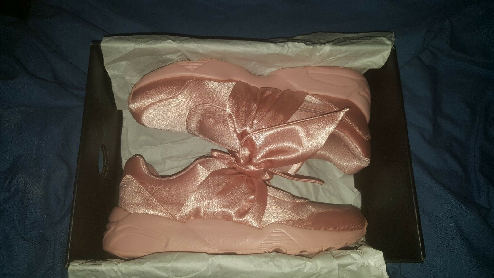 PUMA FENTY PINK SATIN BOW TRAINERS SIZE BRAND NEW IN BOX