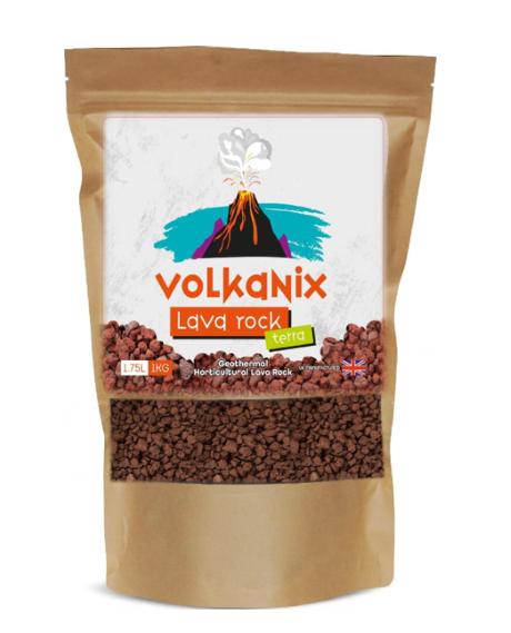 Volkanix Terra Geothermal Pure Lava Rock 1kg (1.75 Litre) Pouch Top Dressing