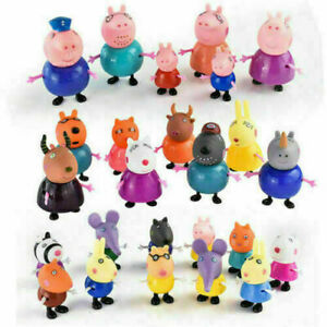 Xmas-gift-25-Pcs-Peppa-Pig-Family-amp-Friends-Emily-Rebecca-Suzy-Action-Figures-Toys