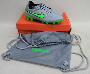 Nike-Homme-Loup-Gris-Vert-Tiempo-Legend-V-FG-Chaussures-De-Football-UK7-EU41-nouveau