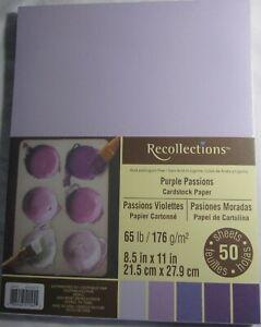 Recollections-Cardstock-Carta-8-1-5-1cm-x-27-9cm-50-Fogli-29-5kg-Viola-Passione