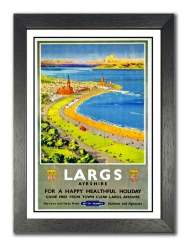 Largs Ayrshire 2 Railway Vintage Retro Oldschool Old Good Price Poster