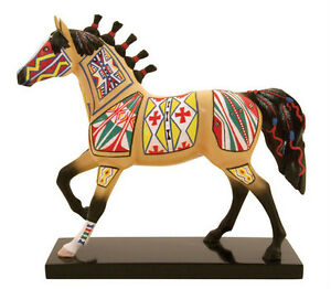 Trail-of-Painted-Ponies-CHEYENNE-PAINTED-RAWHIDE-FIGURINE-New-in-Box-1st-Edition