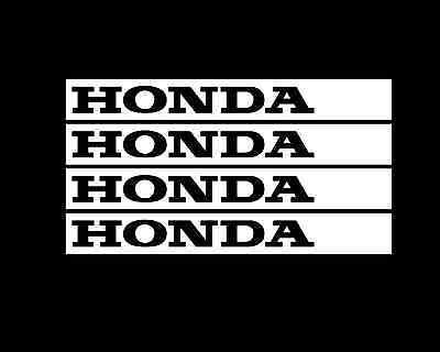 HONDA RIM/s TAG Stickers Decals 4 X 100mmW Wheel Bike Trailer Car JDM SortaFlush