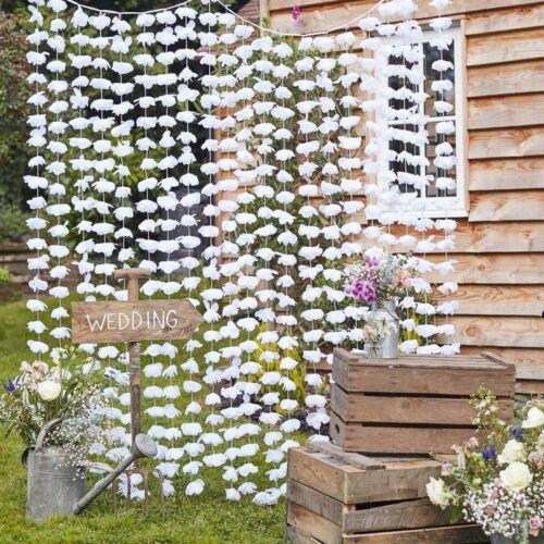 Rustique Fleur Blanc Pétale Mariage Fiançailles Décor Fête Venue Décoration