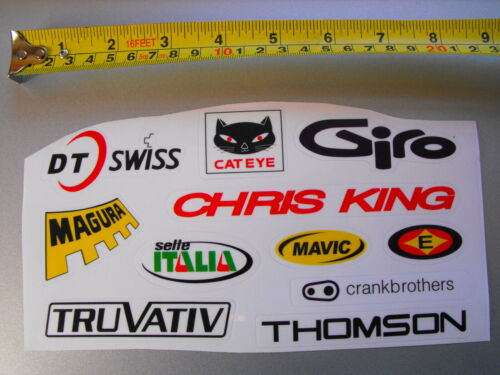 Assortment  of Cycle Bike Frame Stickers// Decals
