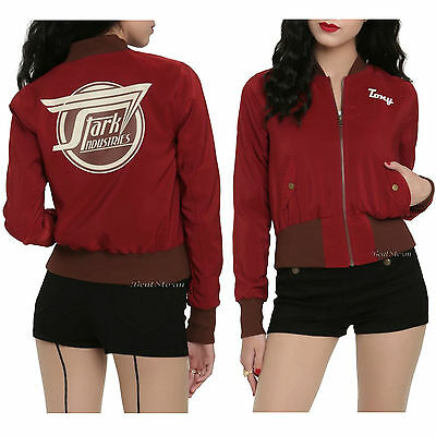 Marvel Her Universe Avengers TONY STARK Industries Bomber Cosplay Jacket IN HAND