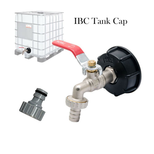 """IBC Tank Adapter S60X6 To Brass Garden Tap With 1//2/"""" Hose Fitting Oil Fuel Water"""