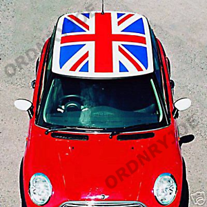 Bmw Mini Union Jack Roof Decal Cooper Mini One Flag Ebay