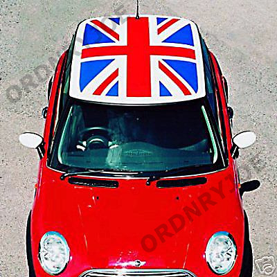 bmw mini union jack roof decal cooper mini one flag ebay. Black Bedroom Furniture Sets. Home Design Ideas