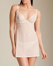 La Perla Camelia Collection 32B XS Babydoll Thong Set Pink White CLEARANCE New