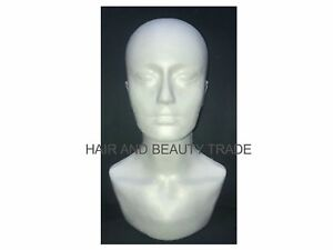 polystyrene Mannequin Head Model Foam Head Wig Glasses Display *FREE POST*