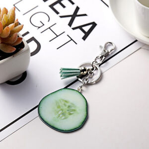 Fashion-PU-Leather-Flower-Multi-Tassel-Pendant-Keyring-Key-Chain-Accessories-SW