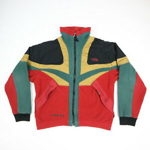 Vintage-The-North-Face-X-Fleece-Jacket-Rasta-Color-Block-USA-Made-Mens-M-RARE