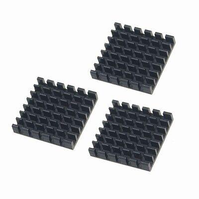 100pcs 25mm 25x25x5mm Black Aluminum Memory IC Chip Cooling Cooler HeatSink