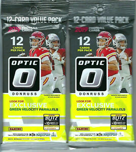 2-x-2019-2020-Donruss-Optic-Football-NFL-Trading-Cards-Factory-Sealed-Packs