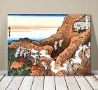 """Beautiful Japanese Landscape Art ~ CANVAS PRINT 8x10"""" ~ Hokusai Climbing Fuji"""