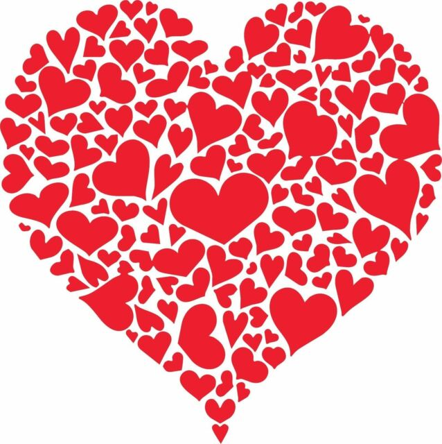 Valentine S Day Heart Of Hearts Sticker Decal Walls Laptops Signs
