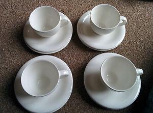 villeroy and boch white 12 piece tea set dune ebay. Black Bedroom Furniture Sets. Home Design Ideas