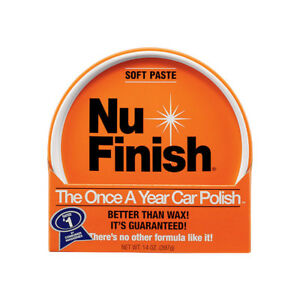 Prudent Nu-finish Paste Automobile Polish 14 Oz. For Use Once A Year Nfp-80