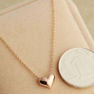 Women's Simple Design Chic Fashion Romantic Heart Love Pendant Necklace Gold