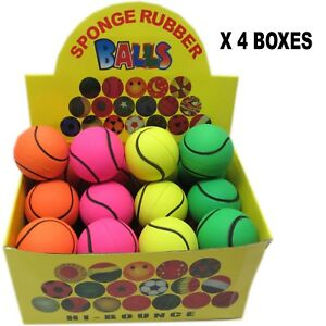 4 boîtes de 24 balles en caoutchouc souple Hi-Bounce idéales pour les chiens.   Conception de tennis 692193731221