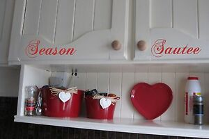 Credenza A Muro Fai Da Te : Kitchen cupboards vinyl sticker wall art home diy cs ebay