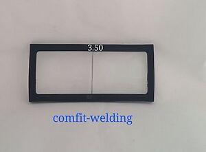 Welding helmet magnifier // cheater lens 2x4 glass 1.75 diopter