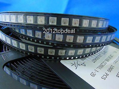 10- 1000pcs WS2812B 5050 RGB LED no/ &PCB Board 1-LED Module Pixel Light 5V