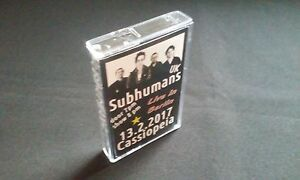 SUBHUMANS - Live in Cassiopeia Berlin 13. Feb 2017 MC Tape 60 Min. Anarcho Punk - Berlin, Deutschland - SUBHUMANS - Live in Cassiopeia Berlin 13. Feb 2017 MC Tape 60 Min. Anarcho Punk - Berlin, Deutschland