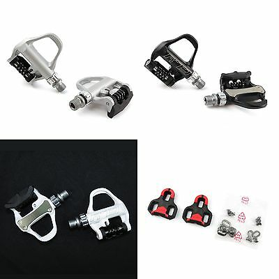 """Wellgo Bike Aluminum 9//16/"""" Road  Bicycle Clipless Pedals /& Look KEO Cleats Set"""