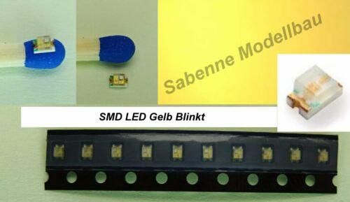 SMD DEL 0805 jaune Clignotant Flash Flasher témoin clignotant