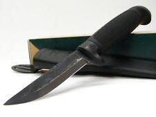 MARTTIINI Black CONDOR TIMBERJACK Fixed Carbon Steel Knife + Sheath 578013 New!